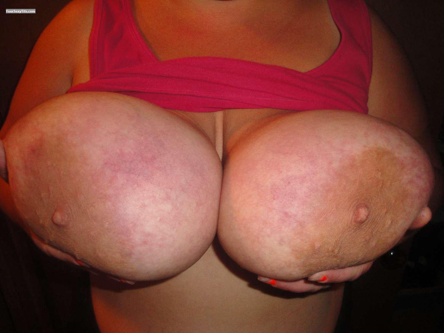 Tit Flash: Wife's Extremely Big Tits - Wifes Big Boobs from United States